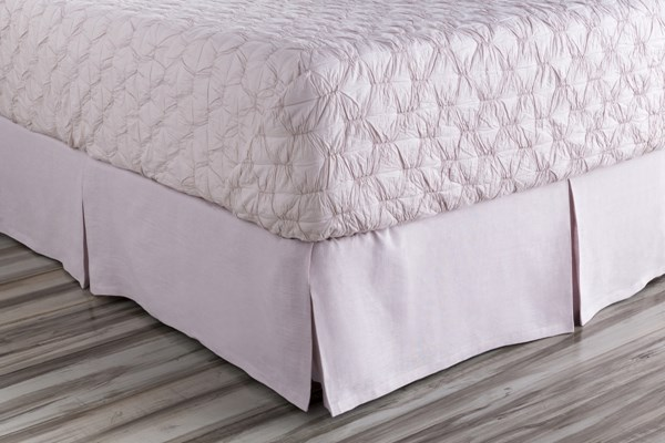 Evelyn Traditional Lilac Fabric King Bed Skirt (L 80 X W 78 X H 15) EVY3002-KSKT