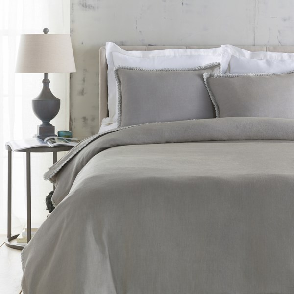 Evelyn Traditional Dove Fabric King Duvet (L 92 X W 108) EVY3003-K