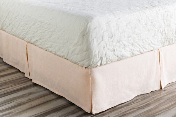 Evelyn Traditional Blush Fabric Twin Bed Skirt (L 76 X W 39 X H 15) EVY3004-TSKT