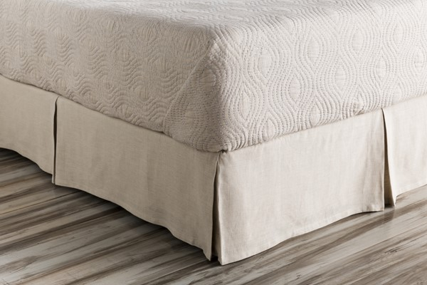 Evelyn Traditional Natural Fabric Queen Bed Skirt (L 80 X W 60 X H 15) EVY3005-QSKT