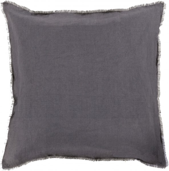 Eyelash Light Gray Down Linen Throw Pillow - 22x22x5 EYL004-2222D