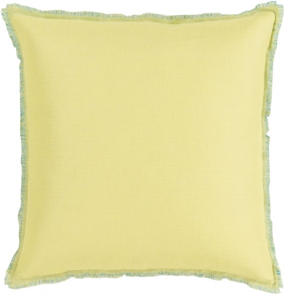 Eyelash Lime Teal Poly Linen Throw Pillow - 18x18x4 EYL005-1818P