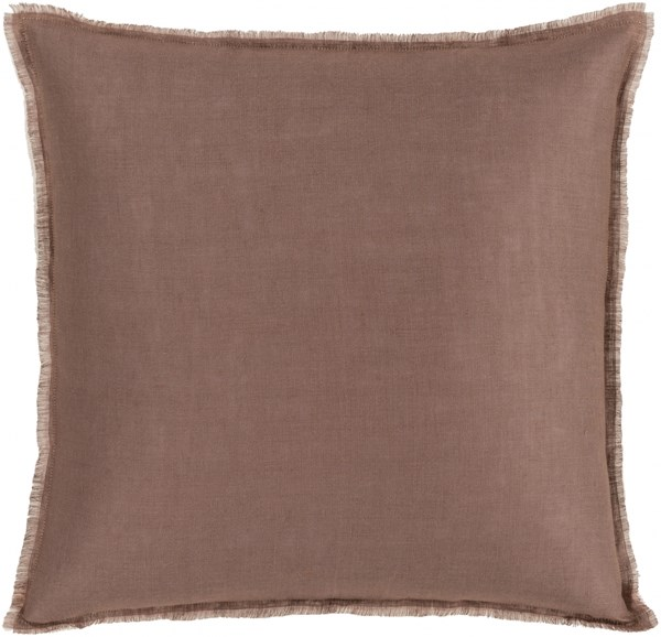 Eyelash Taupe Pastel Pink Down Linen Throw Pillow - 20x20x5 EYL007-2020D