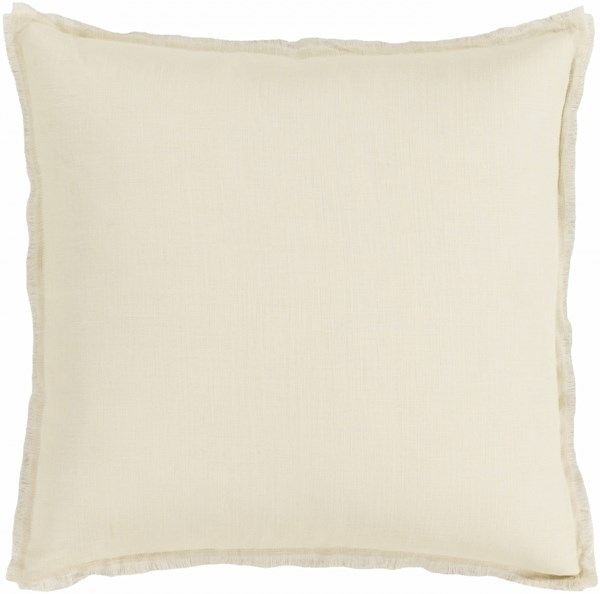 Eyelash Beige Gray Down Linen Throw Pillow - 18x18x4 EYL009-1818D