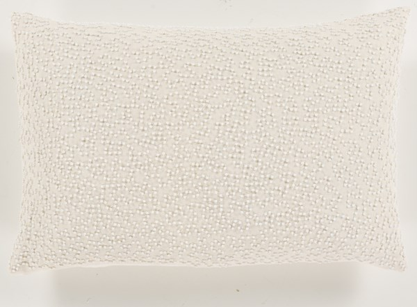 Eliza Contemporary Ivory Fabric Textural Lumbar Pillow EZ001-1319P