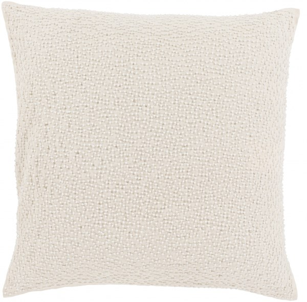 Eliza Pillow with Down Fill in Ivory - 20 x 20 x 5 EZ001-2020D