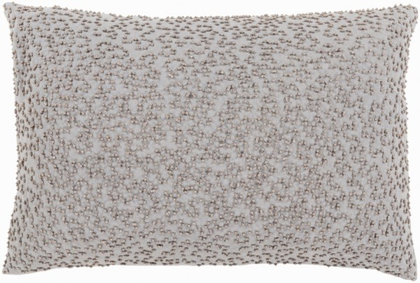 Eliza Pillow With Down Fill In Light Gray And Taupe EZ002-1319D