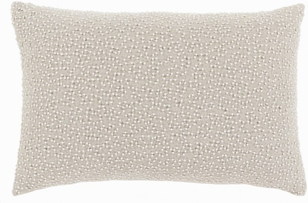 Eliza Pillow With Poly Fill In Ivory And Light Gray EZ003-1319P
