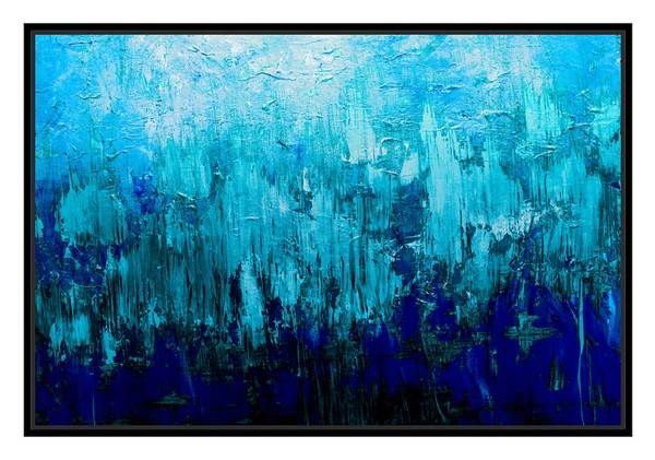 Surya Eternal Canvas Ice Fusion Wall Art - 27x40 FA208A001-2740