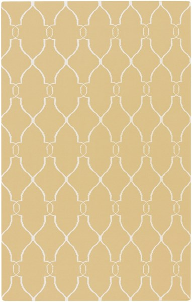 Fallon Contemporary Gold Light Gray Wool Area Rug (L 96 X W 60) FAL1001-58