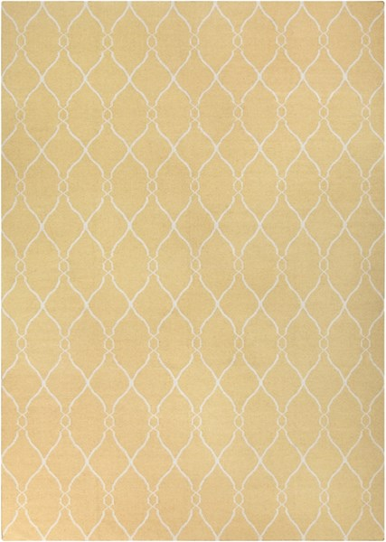 Fallon Contemporary Gold Light Gray Wool Area Rug (L 156 X W 108) FAL1001-913
