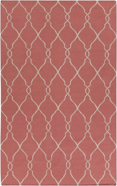 Fallon Contemporary Burgundy Light Gray Wool Area Rug (L 96 X W 60) FAL1002-58