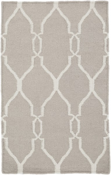 Fallon Contemporary Light Gray Beige Wool Area Rug (L 36 X W 24) FAL1003-23