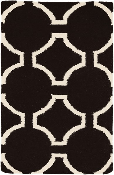 Fallon Contemporary Charcoal Beige Wool Area Rug (L 36 X W 24) FAL1024-23