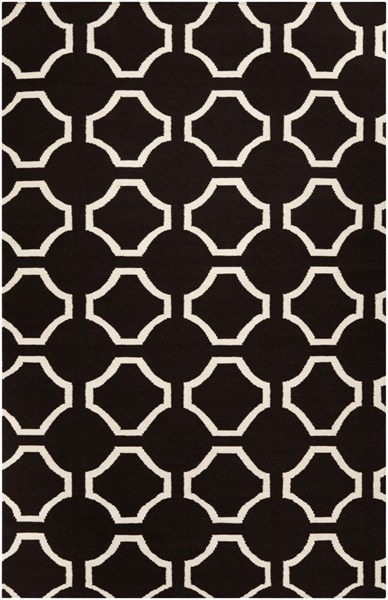 Fallon Contemporary Charcoal Beige Wool Area Rug (L 96 X W 60) FAL1024-58