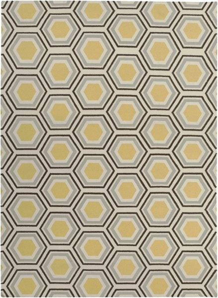 Fallon Contemporary Gold Chocolate Beige Wool Area Rug (L 132 X W 96) FAL1037-811