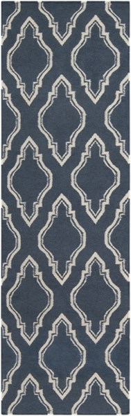 Fallon Contemporary Navy Ivory Wool Runner FAL1050-268