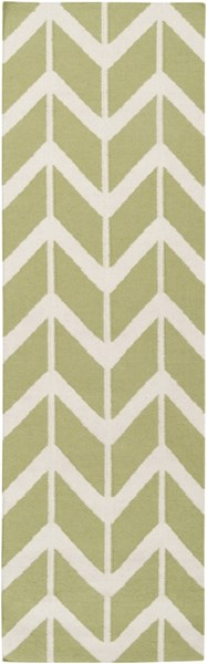 Fallon Contemporary Lime Beige Wool Runner FAL1052-268