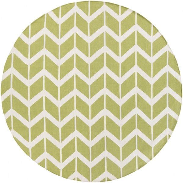 Fallon Lime Beige Wool Round Area Rug - 96 x 96 FAL1052-8RD