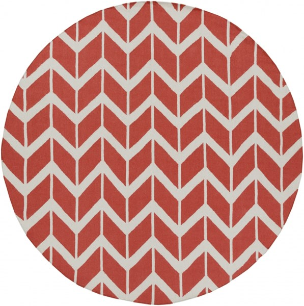 Fallon Coral Beige Wool Round Area Rug - 96 x 96 FAL1054-8RD