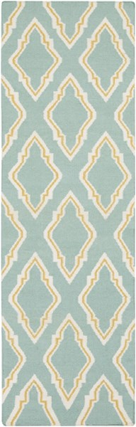Fallon Teal Gold Ivory Wool Runner - 30 x 96 FAL1097-268