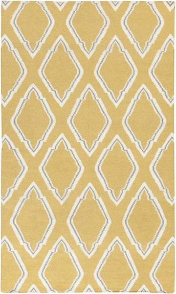 Fallon Gold Ivory Gray Wool Area Rug - 60 x 96 FAL1099-58