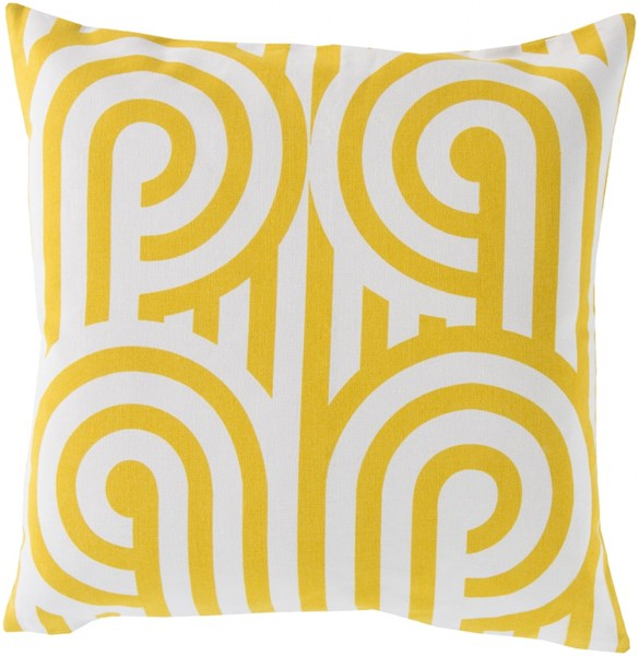 Turnabouts Contemporary Gold Ivory Cotton Throw Pillows 13222-VAR1