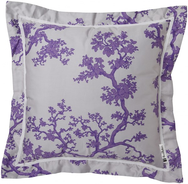 Decorative Pillows Violet Gray Down Cotton Throw Pillow - 18x18x4 FBC002-1818D
