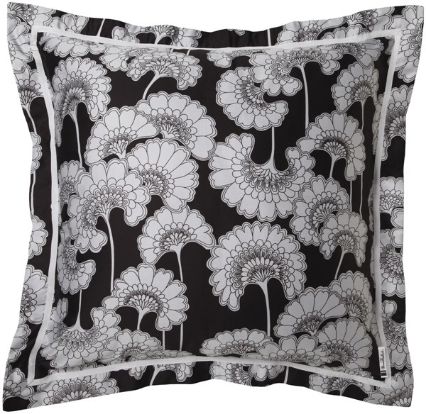 Decorative Pillows Black Gray Poly Cotton Throw Pillow - 18x18x4 FBF001-1818P