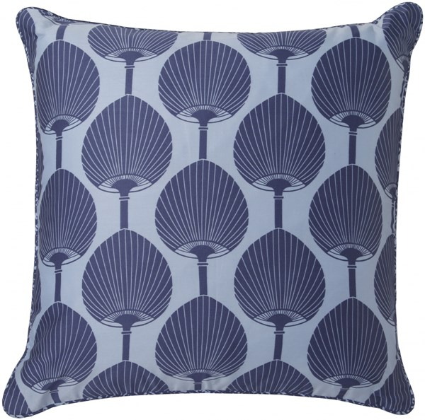 Decorative Pillows Cobalt Sky Blue Poly Cotton Throw Pillow - 18x18 FBK001-1818P