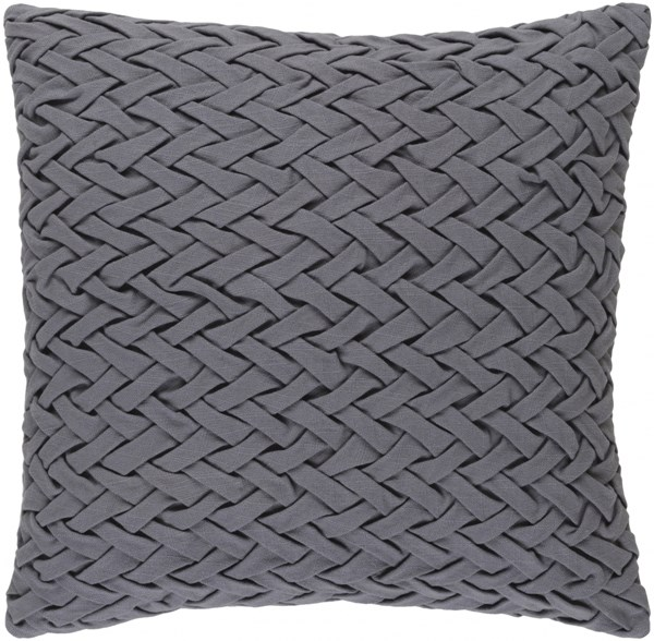Facade Contemporary Gray Cotton Throw Pillow (L 20 X W 20 X H 5) FC001-2020P