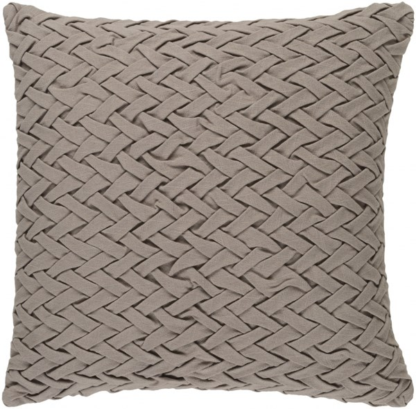 Facade Contemporary Taupe Cotton Down Throw Pillow (L 22 X W 22 X H 5) FC002-2222D