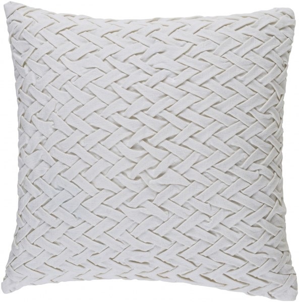 Facade Contemporary Ivory Cotton Throw Pillow (L 20 X W 20 X H 5) FC003-2020P