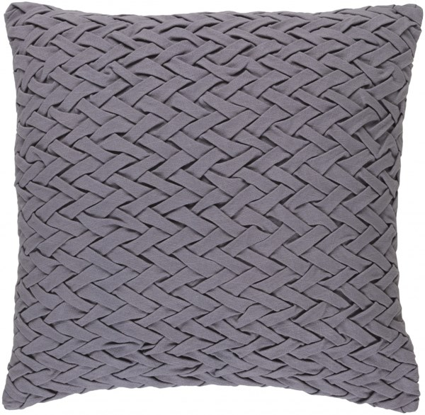 Facade Gray Cotton Square Throw Pillow (L 18 X W 18 X H 4) FC004-1818P