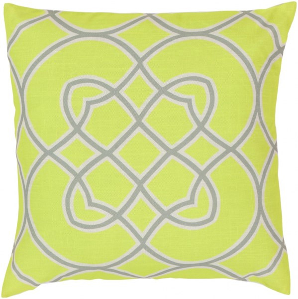 Jorden Lime Moss Ivory Poly Polyester Throw Pillow - 18x18x4 FF034-1818P