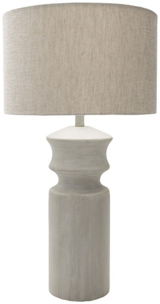 Surya Forger Light Gray Linen Table Lamp - 16x30 FGR100-TBL