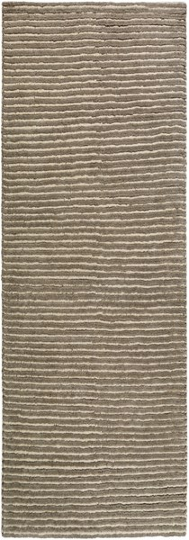 Felix Contemporary Olive Ivory Wool Area Rug (L 96 X W 30) FIX4001-268