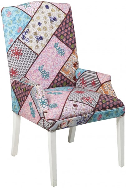 Surya Furniture Aqua Cherry Iris Wood Tweed Chair - 60 x 58 x 110 FL1022-6058110