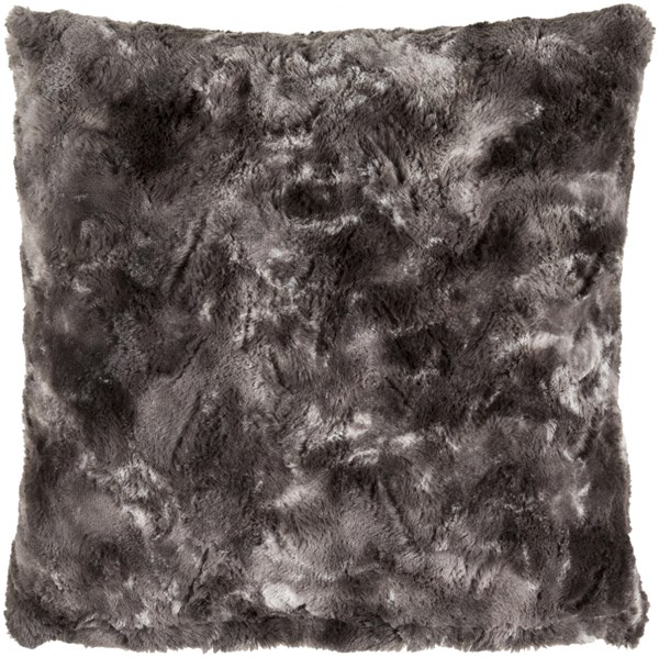 Felina Charcoal Gray Polyester Throw Pillow (L 20 X W 20 X H 5) FLA001-2020D
