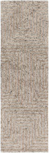 Falcon Light Gray Taupe Charcoal Viscose Wool Runner FALCON-DCR-BNDL