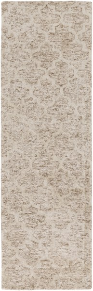 Falcon Contemporary Light Gray Taupe Viscose Wool Runner (L 96 X W 30) FLC8001-268