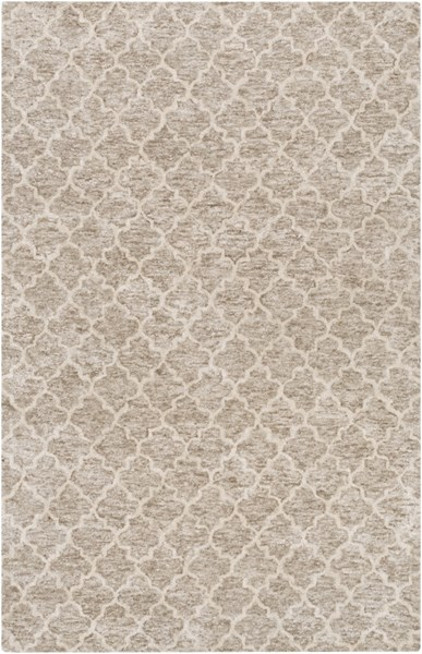 Falcon Light Gray Taupe Viscose Wool Area Rug (L 90 X W 60) FLC8001-576