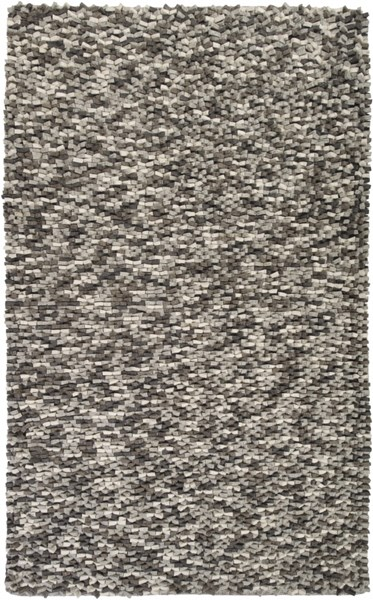 Flagstone Light Gray Ivory Wool - Felted Area Rug - 60 x 96 FLG1000-58