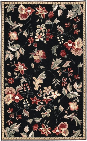 Flor Contemporary Lime Olive Burgundy Wool Area Rug (L 96 X W 60) FLO8907-58