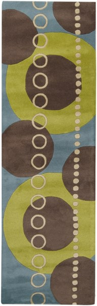Forum Modern Lime Slate Taupe Fabric Runner (L 96 X W 30) FM7013-268