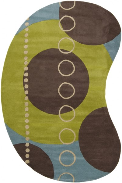 Forum Modern Lime Slate Taupe Wool Area Rug (L 108 X W 72) FM7013-69KDNY