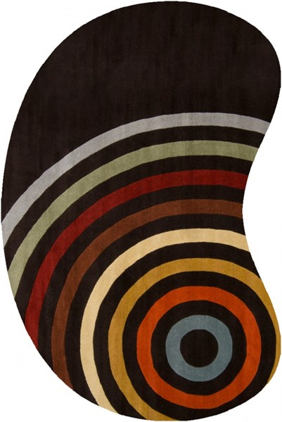 Forum Modern Chocolate Rust Gold Wool Abstract Area Rug (L 108 X W 72) FM7138-69KDNY