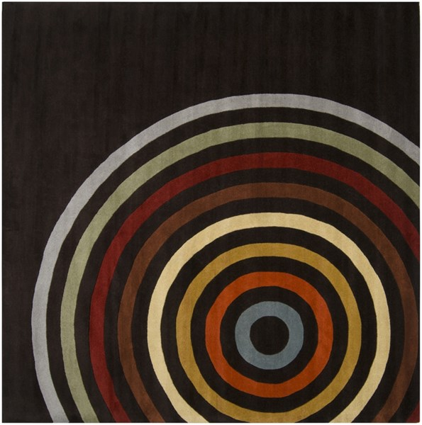 Forum Modern Chocolate Rust Gold Wool Abstract Area Rug (L 96 X W 96) FM7138-8SQ