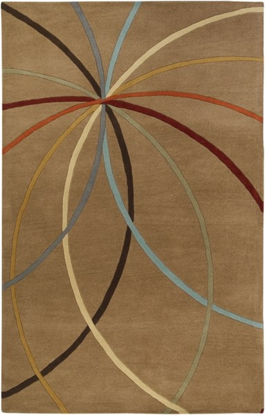 Forum Modern Coral Chocolate Wool Area Rug (L 96 X W 60) FM7140-58