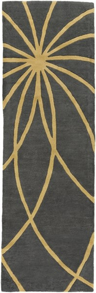Forum Modern Moss Gold Fabric Runner (L 96 X W 30) FM7181-268
